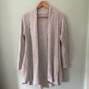 Athleta long grey cardigan sweater Small
